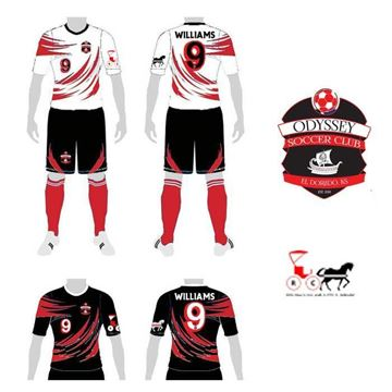 Picture of Soccer Kit Style ODY 185 Custom
